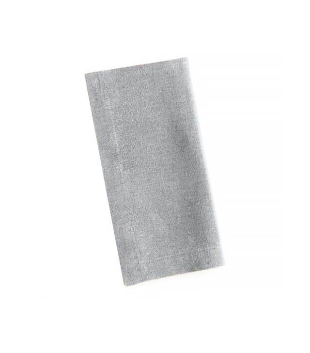 World Market Gray 100% Linen Napkins Set of 4