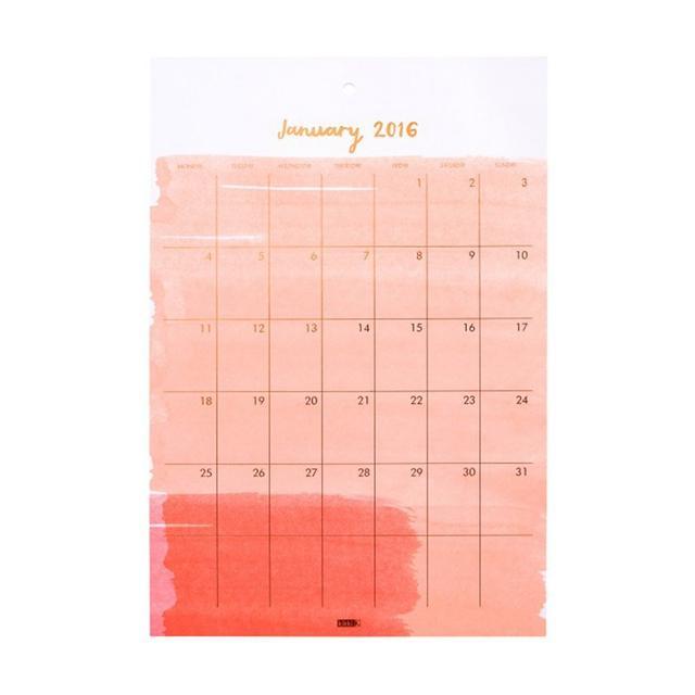 kikki.K 2016 Monthly Wall Calendar