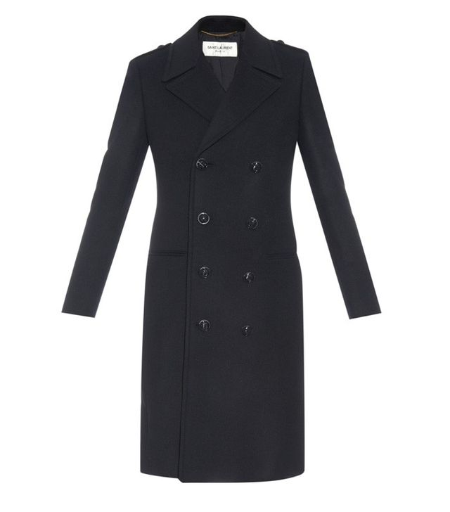 Saint Laurent Chesterfield Double-Breasted Wool Coat