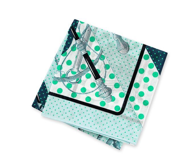Hermès Clic Clac a Pois Handkerchief