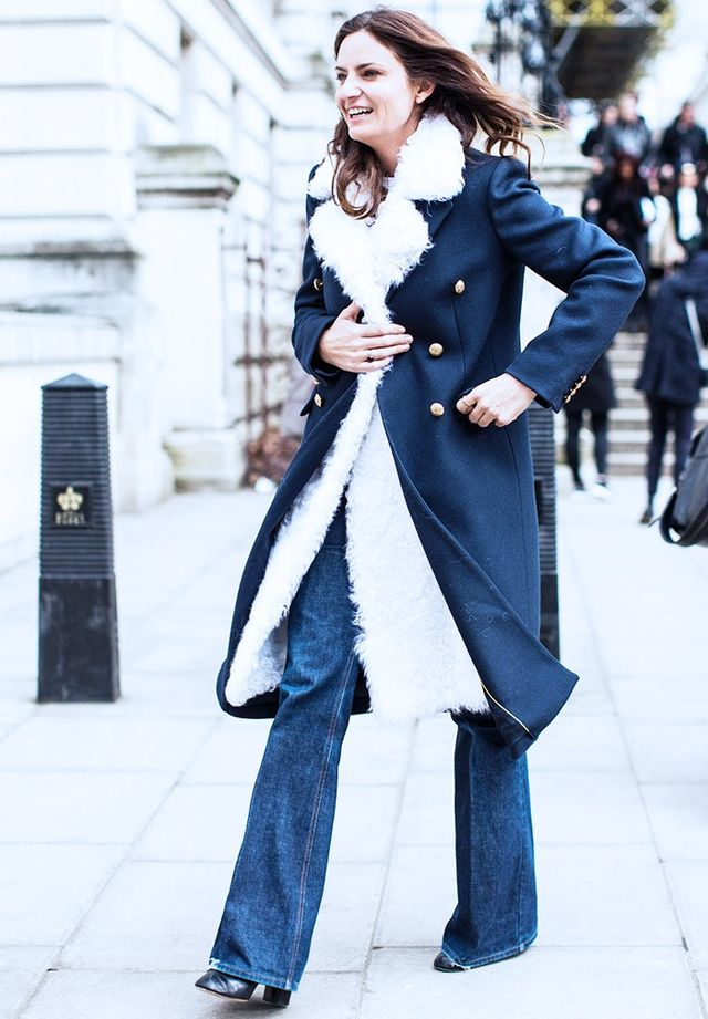 Style Notes: Invest in a roomy three-quarter length coat so that you can slip a furry number underneath for double the glamour.