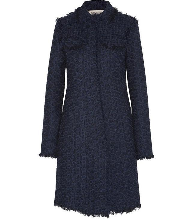 Nina Ricci Wool-Blend Tweed Coat