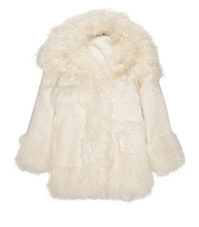 Stella McCartney Ramona Oversized Embroidered Faux Fur Coat