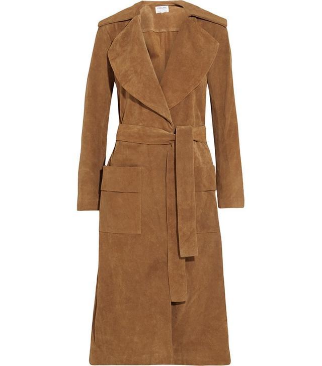 Frame Denim Wool-Blend Tweed Coat