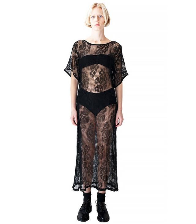 Vintage 1920s Black Lace Dress