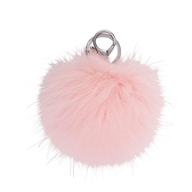Adrienne Landau Fur Pom-Pom Key Chain