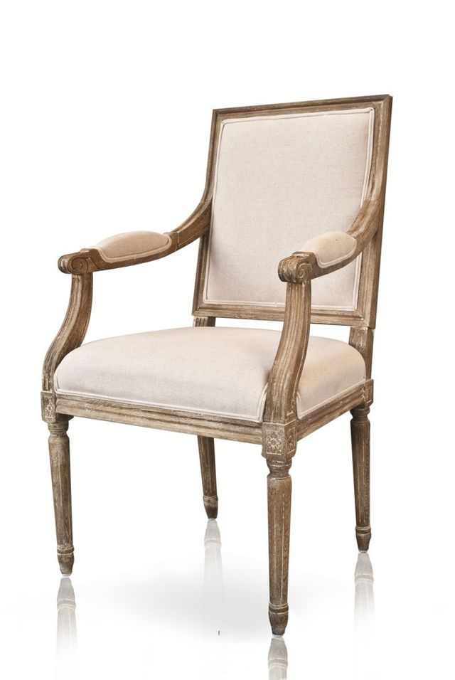 French and English Avignon Square Armchair Louis XVI Style