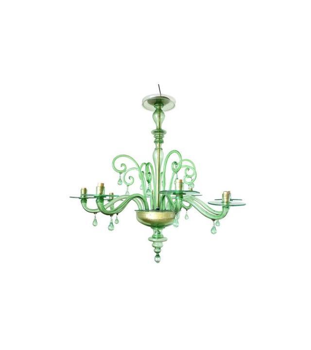 Venini Emerald Green Murano Glass Chandelier