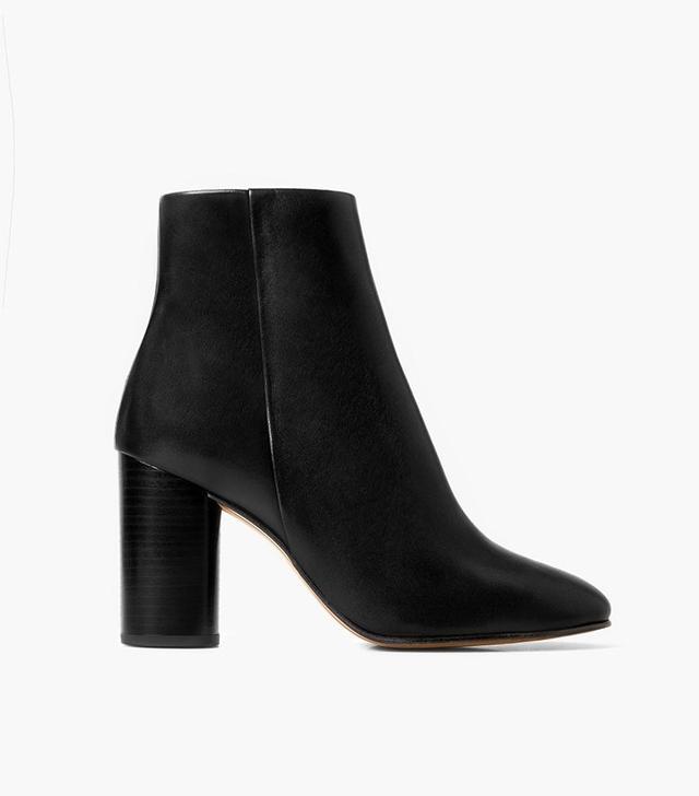 Mango Premium Leather Ankle Heel Boots