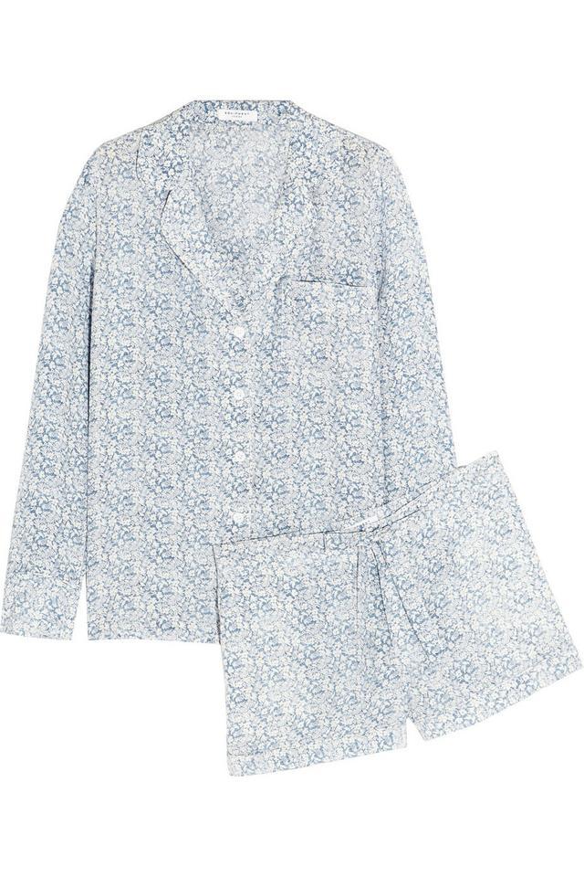 Equipment Lilian Floral-Print Washed-Silk Pajama Set