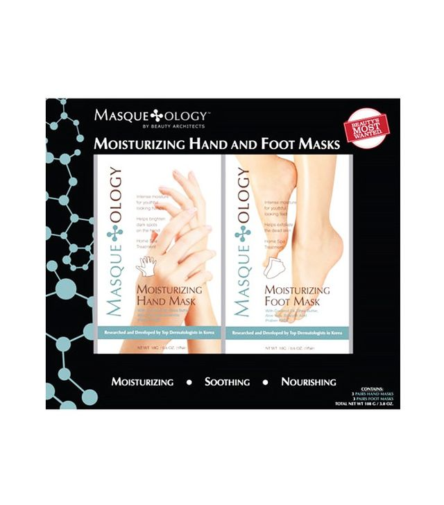 Masqueology Moisturizing 3-Pack Hand and 3-Pack Foot Mask