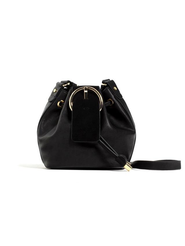 Zara Circular Fastening Messenger Bag