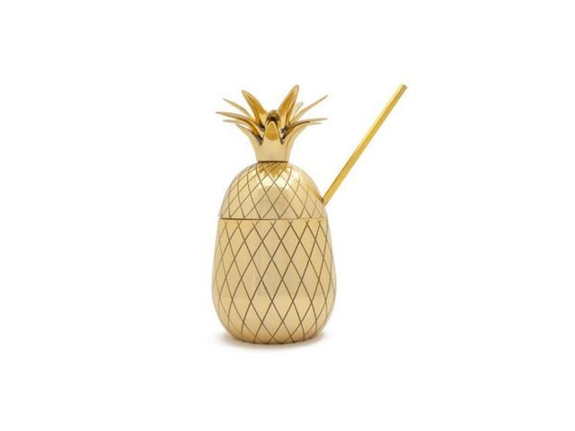 Waiting on Martha Large Gold Pineapple Cocktail Tumbler
