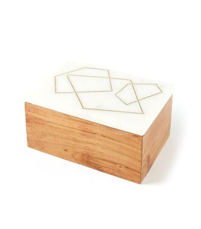 West Elm Roar and Rabbit Marble and Wood Jewelry Boxes
