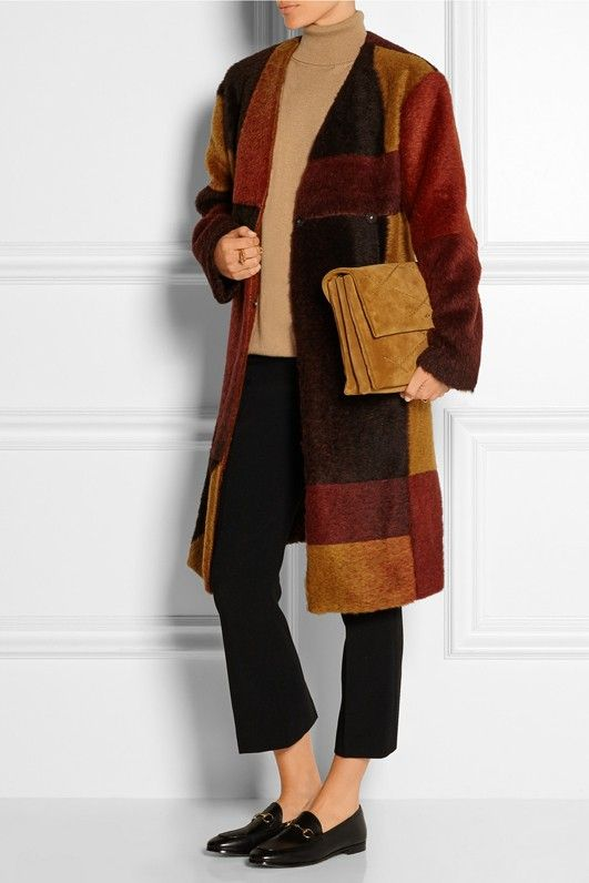 Thakoon Patchwork Knitted Coat
