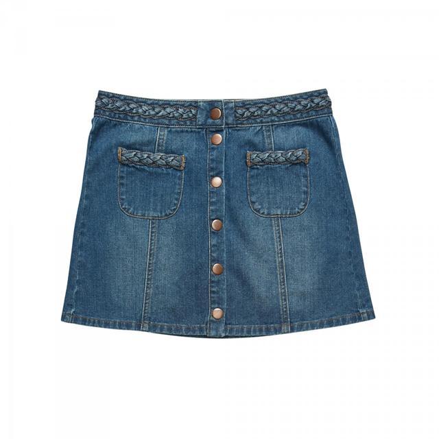 Kendall & Kylie Braided Denim Skirt