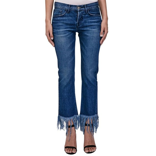 3 X 1 Crop Fringe Jeans
