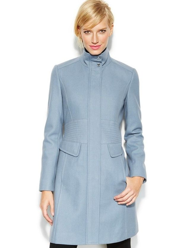 Would You Wear a Light Blue Coat for Winter? | WhoWhatWear