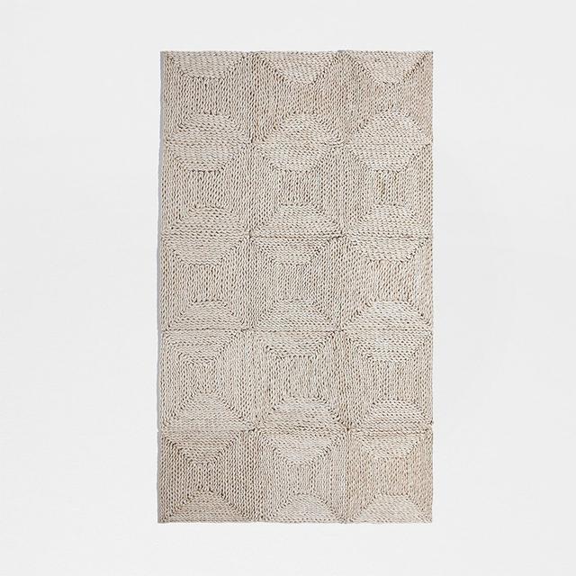 Geometric Straw Rug 90cm x 150cm