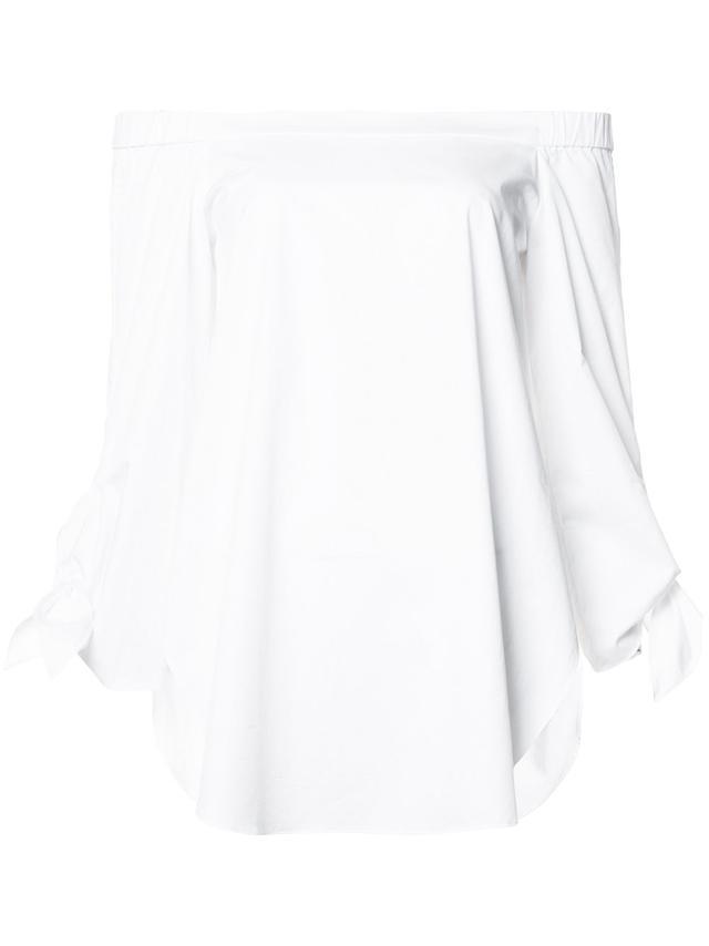 Tibi Off-The-Shoulder Shirt