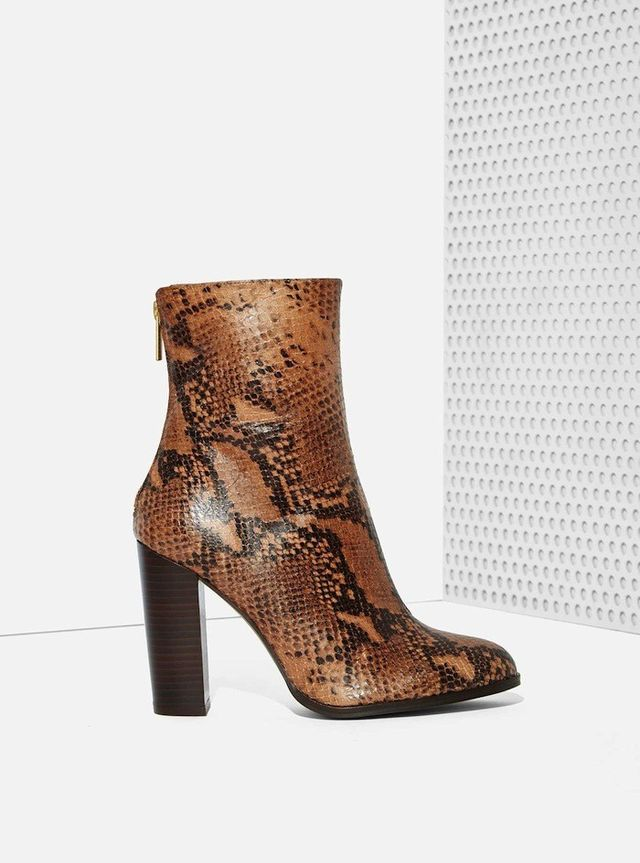 Intentionally Blank Vetus Leather Boot in Python