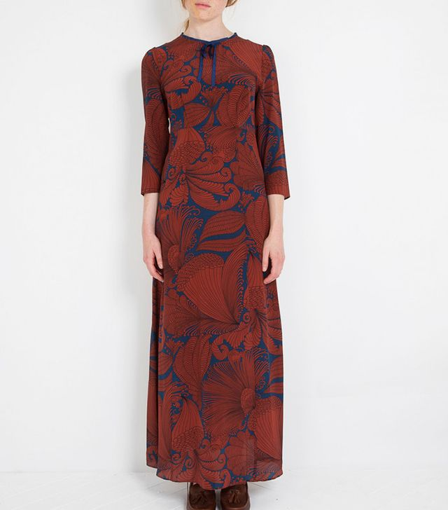 Capri Long Silk Dress