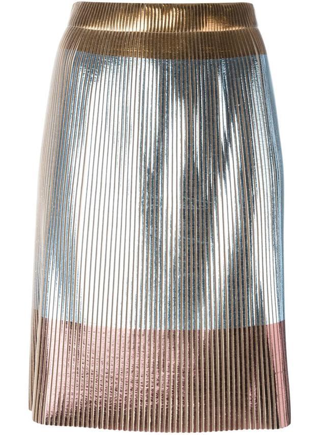 Golden Goose Deluxe Metallic Accent Skirt