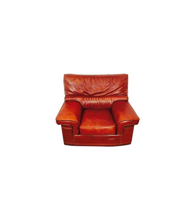 Chairish Italian Buffalo Leather Club Chair