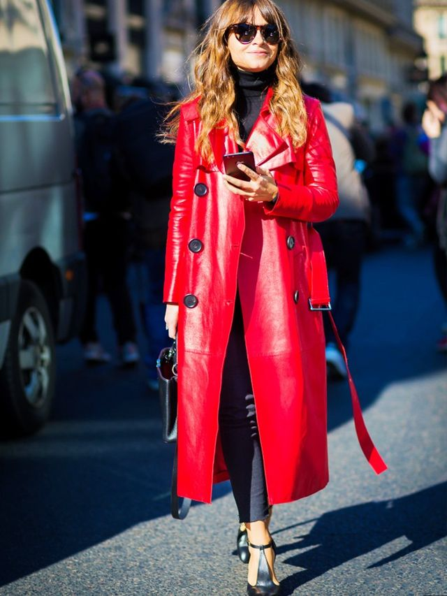 On Miroslava Duma: Derek Lam trench coat.