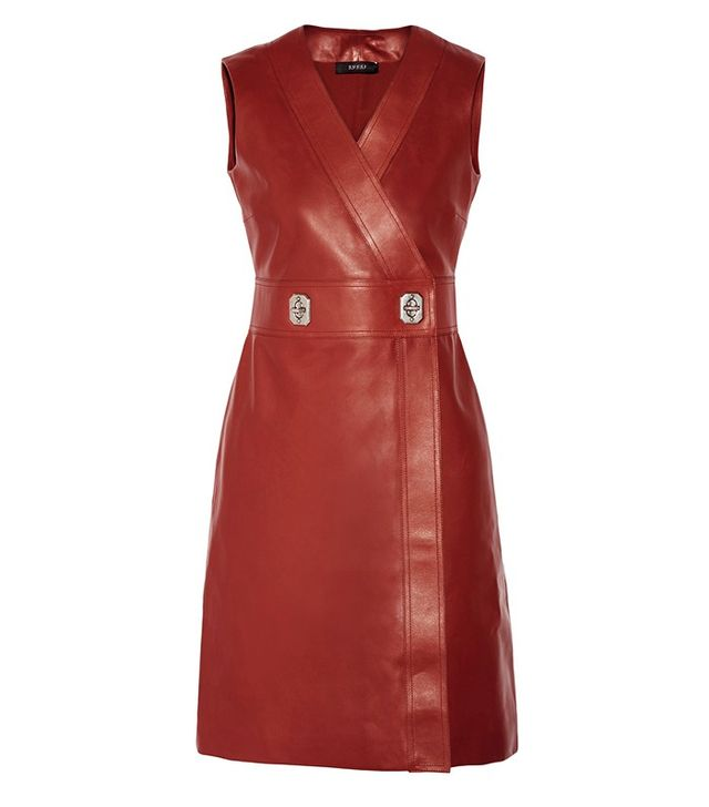 Gucci Leather Wrap Dress