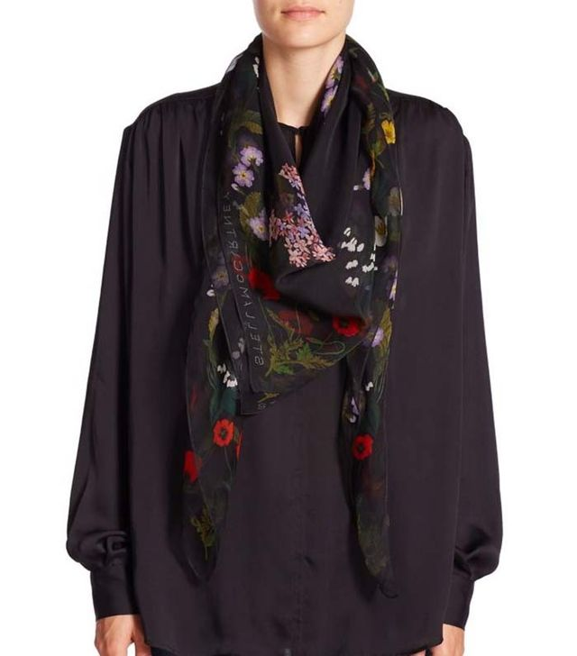 Stella McCartney Embroidered Silk Scarf