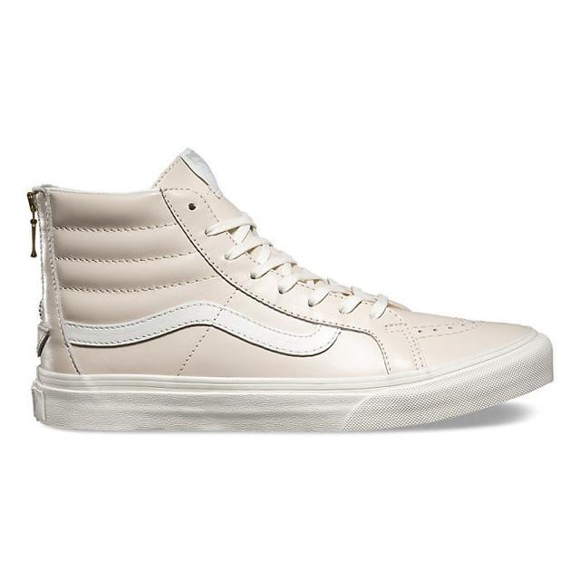 Vans Leather SK8-Hi Slim Zip in Whispering Pink