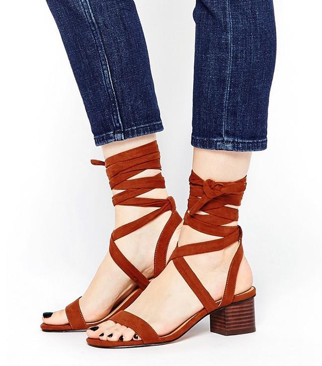 ASOS Tessa Lace Up Heeled Sandals