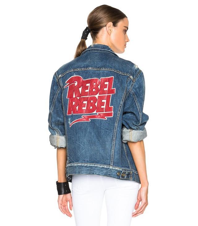 R13 Embroidered Rebel Trucker Jacket