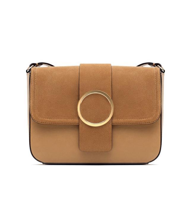 Zara Metal Detail Messenger Bag