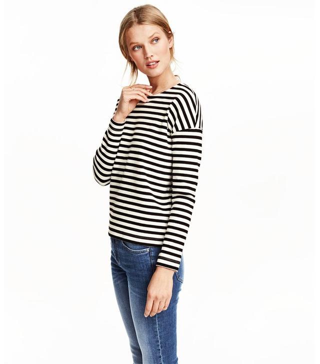 H&M Striped Cotton Top