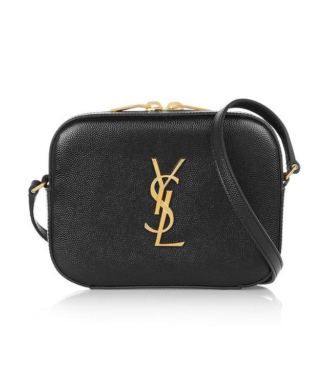 Saint Laurent Monogram Textured-Leather Camera Bag