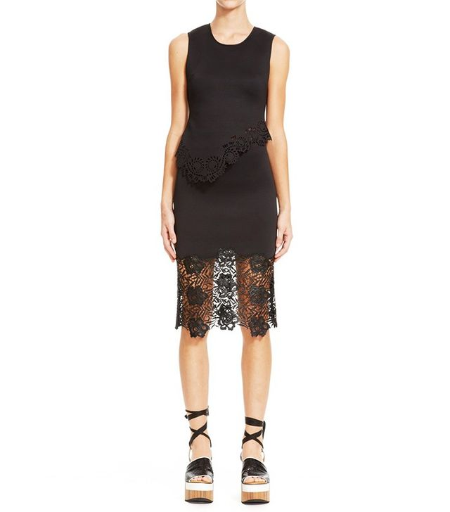 Clover Canyon Black Lace Pencil Skirt