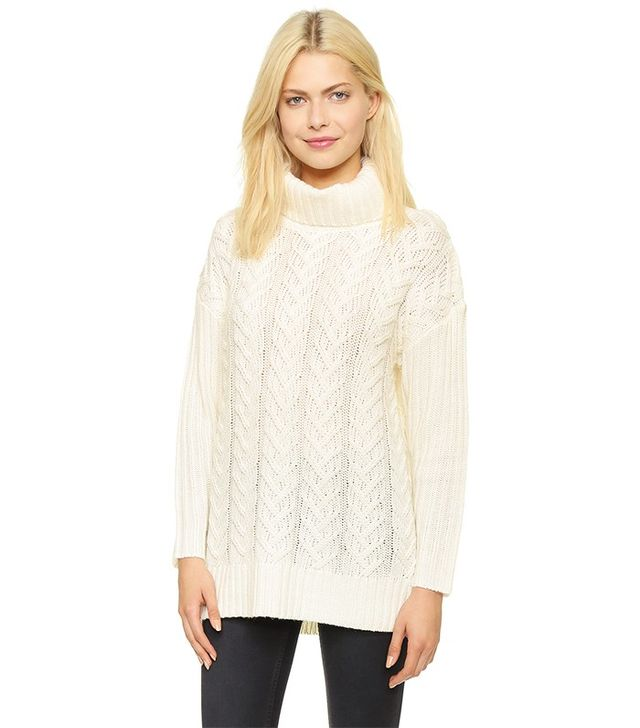 Glamorous Cable Knit Turtleneck Sweater