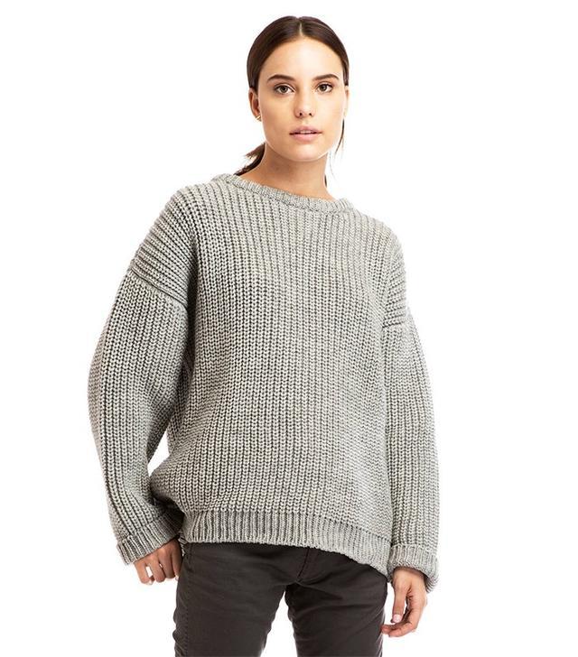 Zady .09 Grey Chunky Knit Sweater