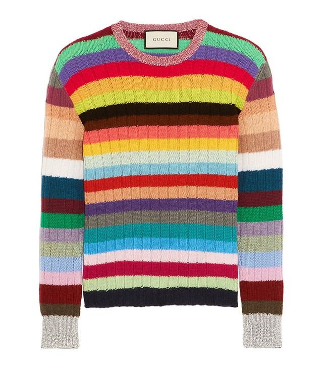 Gucci Striped Cashmere and Wool-Blend Sweater