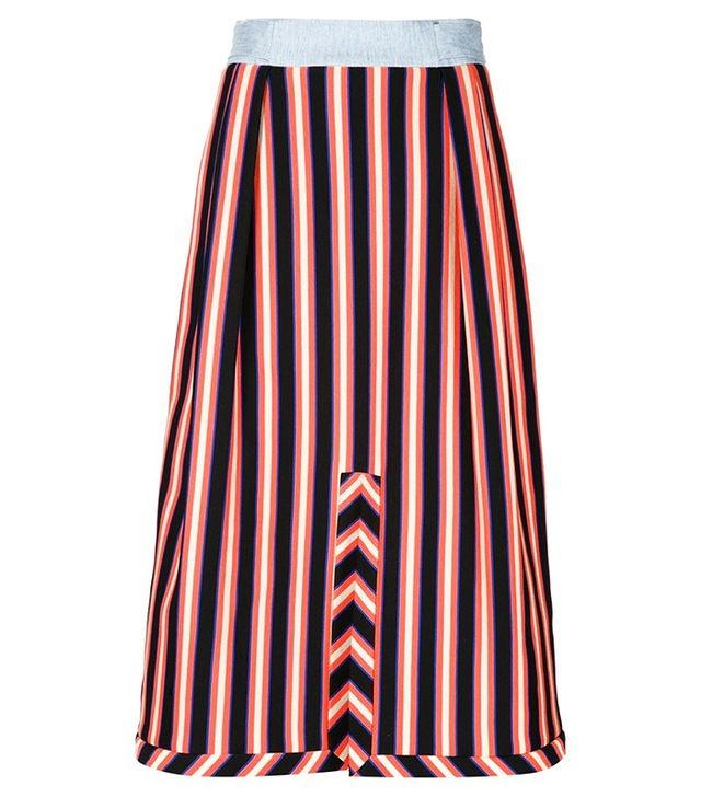 Novis Striped Pleated Skirt