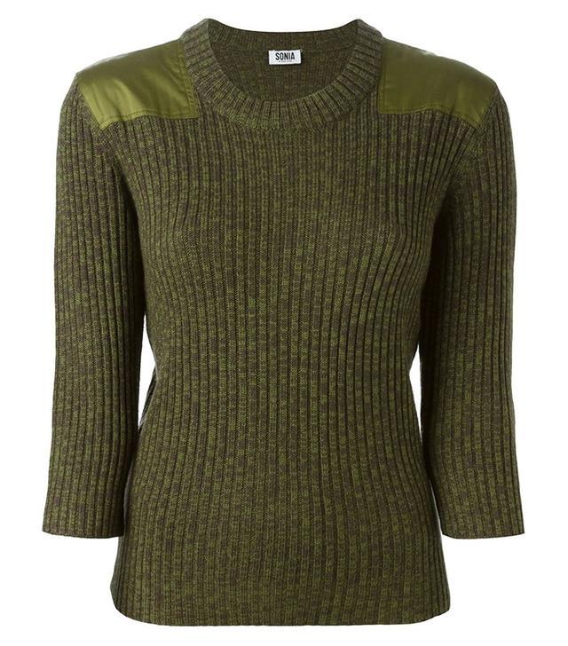 Sonia by Sonia Rykiel Ribbed Crew Neck Sweater