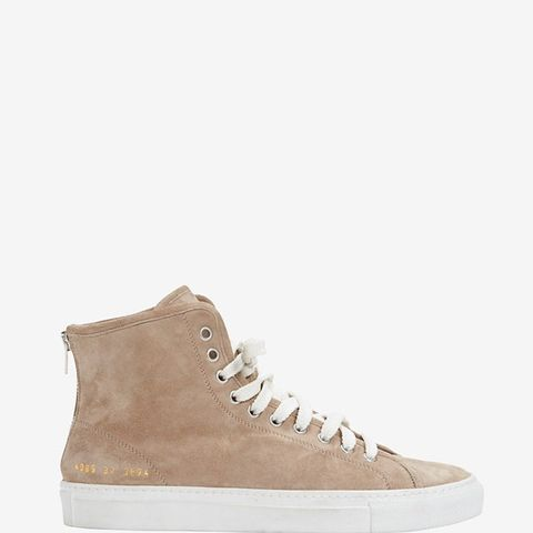 Lace-Up High Top Suede Sneaker: Grey