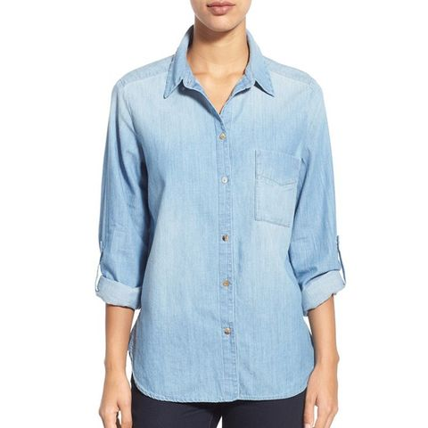 Concept Patch Pocket Chambray Shirt