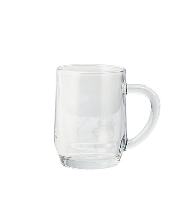 Crate & Barrel Moderno Glass Mug