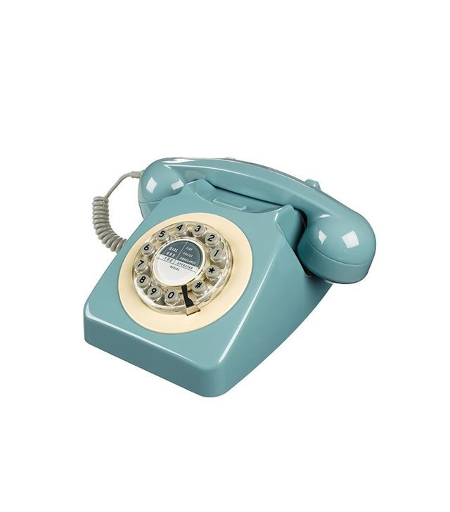 Wild & Wolf 1960s Corded Telephone in French Blue