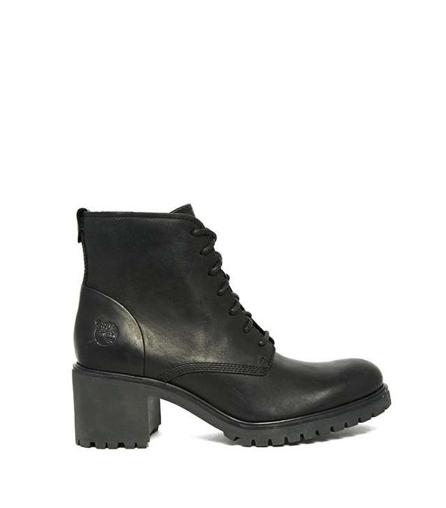 Timberland Avery Lace Up Black Heeled Boots