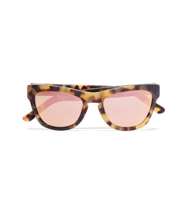 Westward Leaning x Olivia Palermo Pioneer 24 Cat-Eye Acetate Mirrored Sunglasses