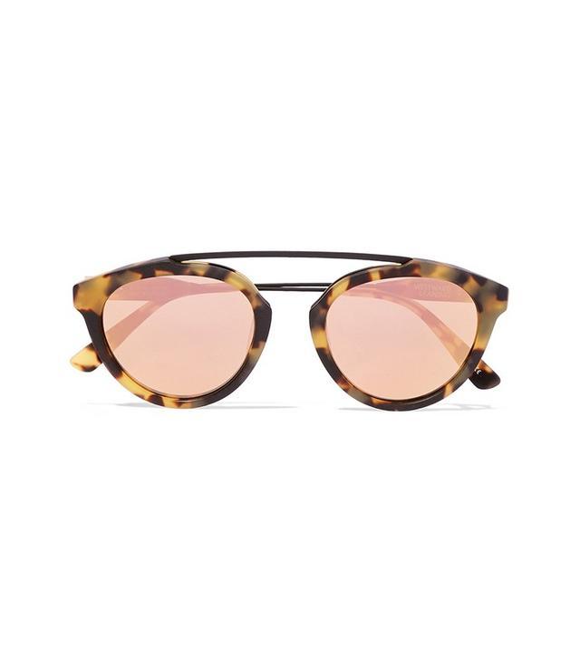 Westward Leaning x Olivia Palermo Flower 13 Aviator-Style Acetate Mirrored Sunglasses